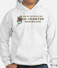 God Created Mountain Curs Hoodie