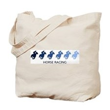 Horse Racing (blue variation) Tote Bag