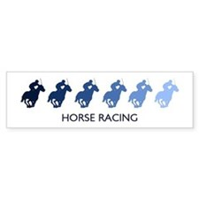 Horse Racing (blue variation) Bumper Bumper Sticker