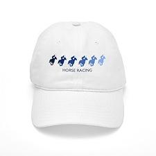 Horse Racing (blue variation) Baseball Cap