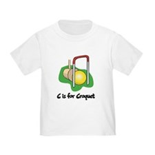 C is for Croquet T