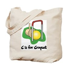C is for Croquet Tote Bag