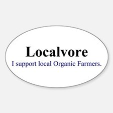 Localvore Oval Decal