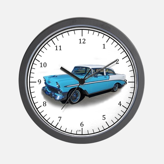 1956 Chevrolet Bel Air Wall Clock