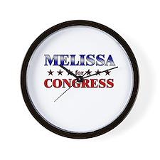 MELISSA for congress Wall Clock