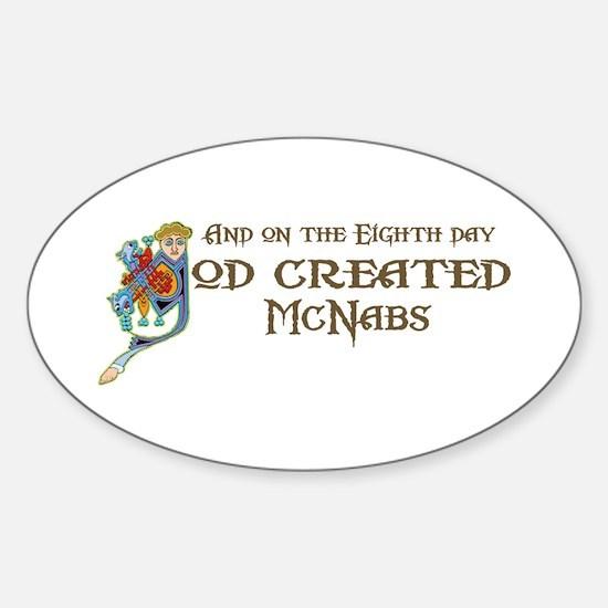 God Created McNabs Oval Decal