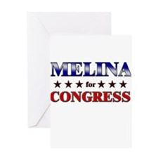 MELINA for congress Greeting Card