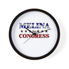 MELINA for congress Wall Clock