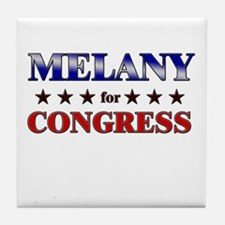 MELANY for congress Tile Coaster