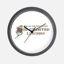 God Created Lurchers Wall Clock
