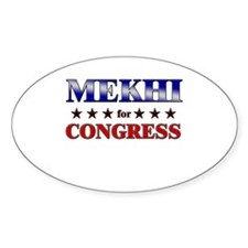 MEKHI for congress Oval Decal