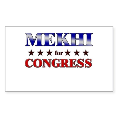 MEKHI for congress Rectangle Sticker