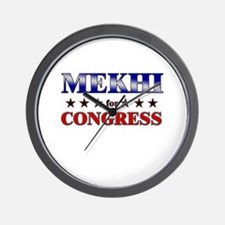 MEKHI for congress Wall Clock