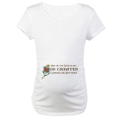 God Created Llewellins Maternity T-Shirt