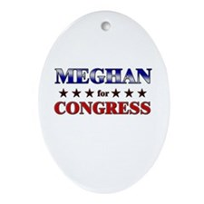 MEGHAN for congress Oval Ornament