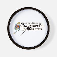 God Created Leos Wall Clock