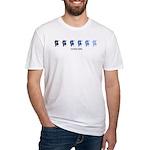 Dancers (blue variation) Fitted T-Shirt