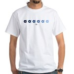 DJ (blue variation) White T-Shirt