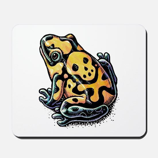 Poisonous Frog With Skull And Crossbones Mousepad
