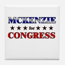 MCKENZIE for congress Tile Coaster