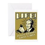 Life Is For Playing Video Games Greeting Cards (Pk
