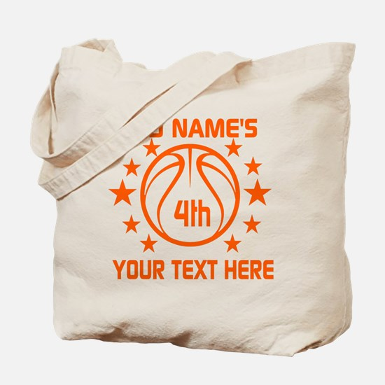 Personalized Baskeball Birthday or Name a Tote Bag