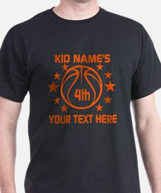 Personalized Baskeball Birthday or Na T-Shirt