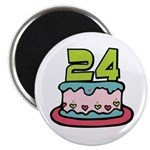 24th Birthday Cake Magnet