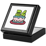 24th Birthday Cake Keepsake Box