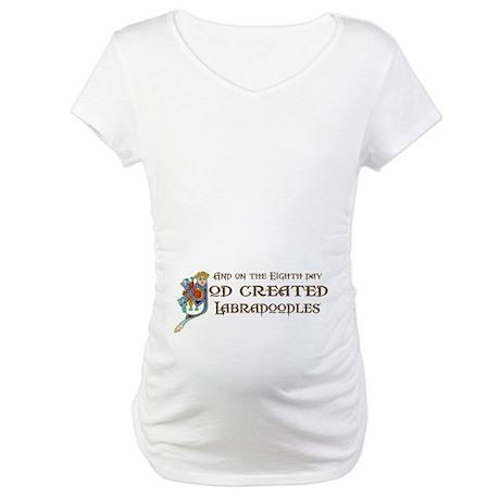 God Created Labradoodles Maternity T-Shirt