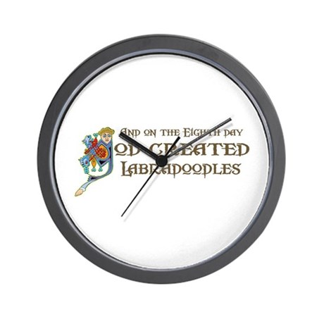 God Created Labradoodles Wall Clock