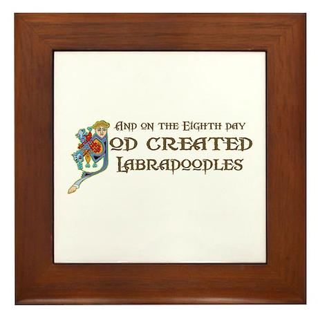 God Created Labradoodles Framed Tile