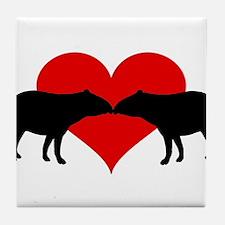 Tapirs Tile Coaster