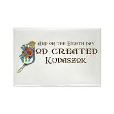 God Created Kuvaszok Rectangle Magnet (10 pack)