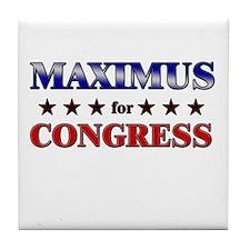 MAXIMUS for congress Tile Coaster
