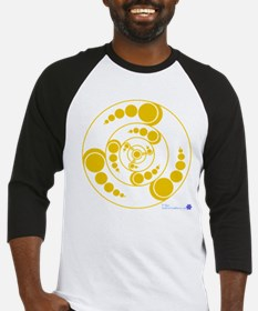 Gold Bubbles Crop Circle.psd Baseball Jersey