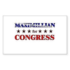MAXIMILLIAN for congress Rectangle Decal