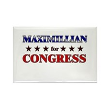 MAXIMILLIAN for congress Rectangle Magnet