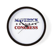 MAVERICK for congress Wall Clock