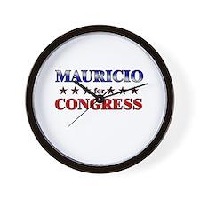 MAURICIO for congress Wall Clock