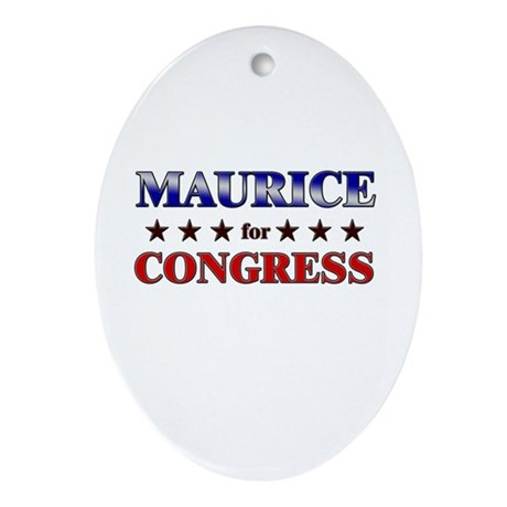 MAURICE for congress Oval Ornament