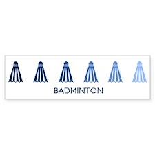 Badminton (blue variation) Bumper Bumper Sticker