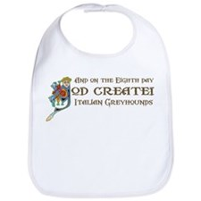 God Created Greyhounds Bib