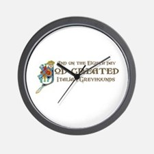 God Created Greyhounds Wall Clock