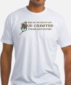 God Created Greyhounds Shirt