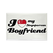 I love my Singaporean Boyfriend Rectangle Magnet
