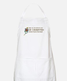God Created Wolfhounds BBQ Apron