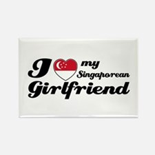 I love my Singaporean Girlfriend Rectangle Magnet