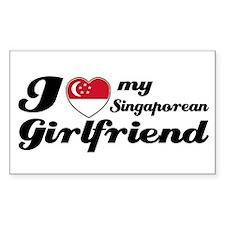 I love my Singaporean Girlfriend Sticker (Rectangu