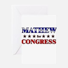 MATHEW for congress Greeting Card